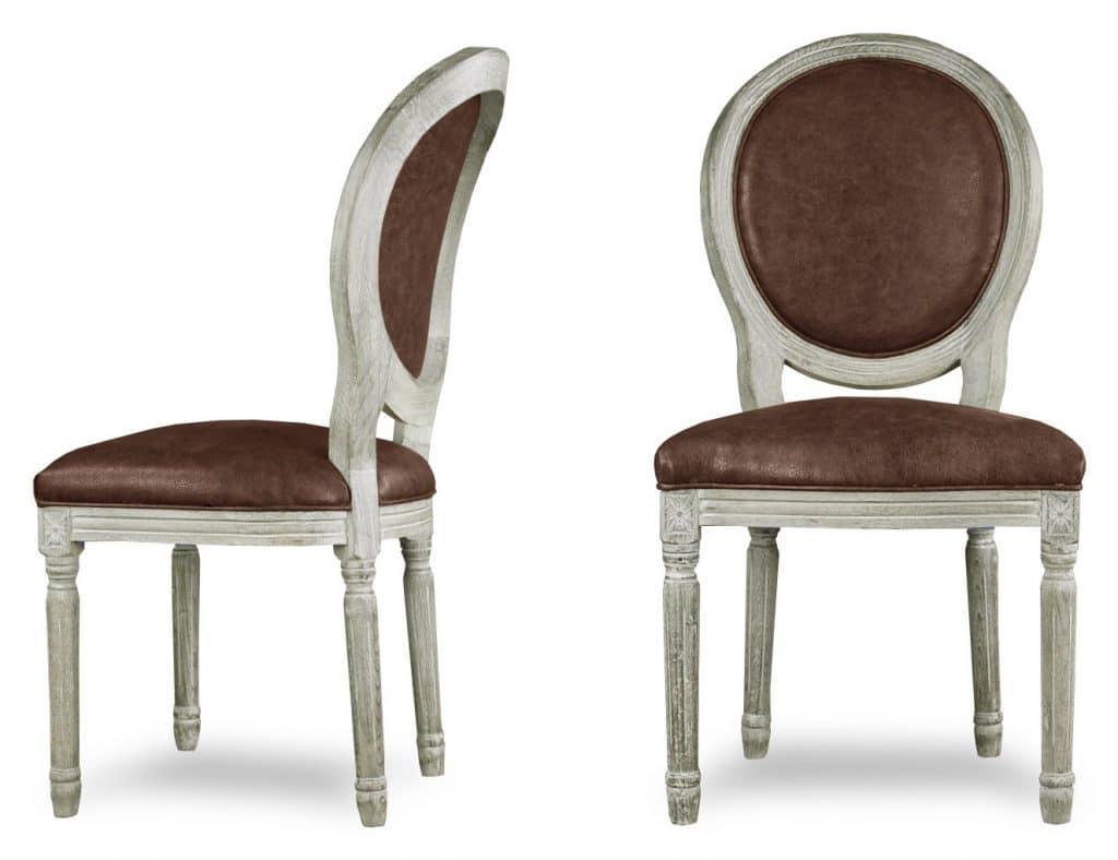 chaise medaillon