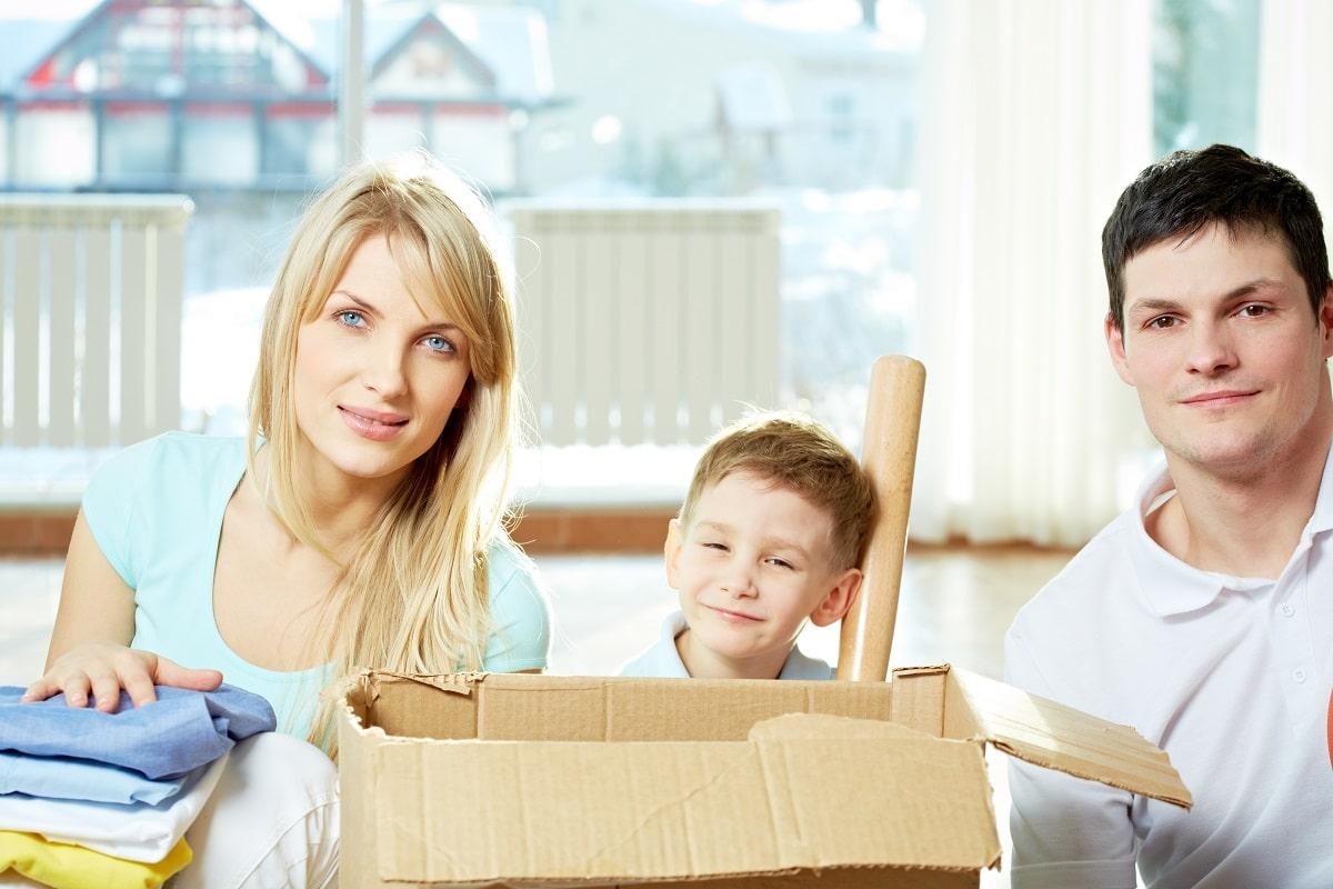 famille qui déménage