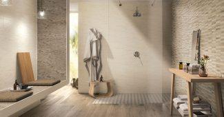 salle de bain en pierre et bois