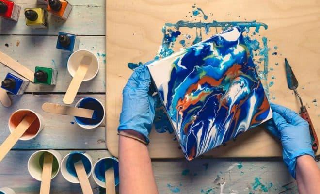 peinture acrylique fluide