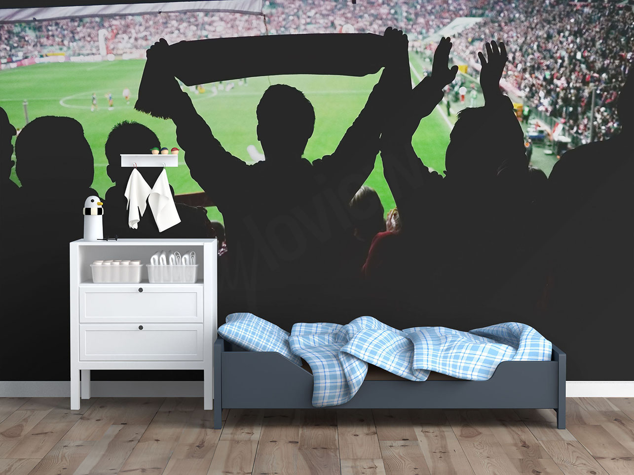 papier peint enfant football