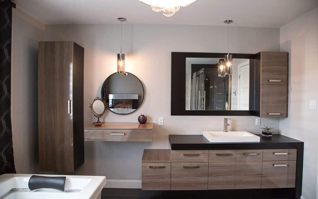 Vanit s de salle de bain du bois pour une d co cosy for Salle de bain tendance 2018